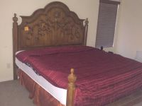 Queen bed, mattress and box spring included