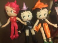 3 adorable Betty Boop cloth dolls from her Halloween collection