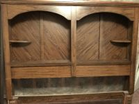 Old wooden desk with Hutch