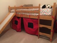 Kid s Loft Bed w/ Slide and Playhouse