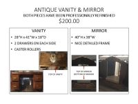 ANTIQUE VANITY & MIRROR