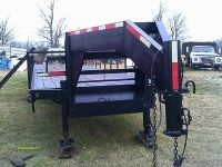 $10,000, 40 ft gooseneck flat bed trailer