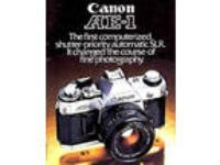 CANON AE-1 SLR 35mm CAMERA BROCHURE -CANON AE1--from 1981