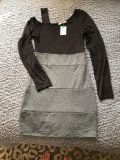 NEW! Adorable black and gray dress