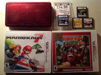 Nintendo 3DS, 2 3DS games and 4 DS games