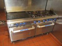 "Imperial 6 Burner Range w/ Oven and 24"" Griddle RTR#7111002-02"