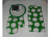 Golf BBQ Set oven mitt hand towel Pot Holder #1 Father NWT