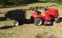 Riding Lawn Mower and Dump Trailer