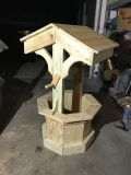 Pine Wishing Well. Pressure treated unfinished wood. 41 Tall. 22 octagon base. Handcrafted