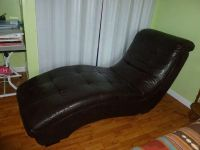 Dark Brown Vinyl Lounge Chair
