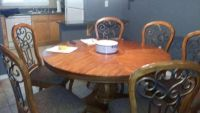 Table, Wine Station and China Hutch
