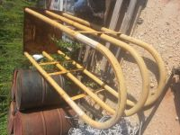 Tractor tire mounting cage.