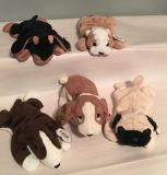 LOT of 5 RETIRED DOG BEANIE BABIES!!