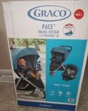 graco pace travel system new stroller + car seat