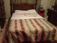 $150, queen size bed headboard sealy pedic mattress box spring and frame 150$ o.b.o