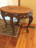 Vintage wood accent table