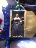 2001 BARBIE RING IN THE NEW YEAR DOLL w/MUSICAL ORNAMENT