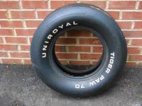 Buy NOS UNIROYAL TIGER PAW 70 WHITE LETTER TIRE G70-14 70 71 72 GTO 442 ELCAMINO GS motorcycle in East Earl, Pennsylvania, United States, for US $600.00