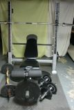Pro Weight Bench + Weights