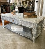 Large Solid Wood Coffee Table ( Xposted)