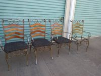 4 cafe bistro distressed soda shop shabby chairs