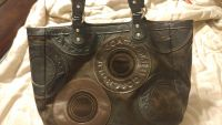 Authentic leather and suede Coach purse