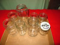 8 Various Size Canning Jars