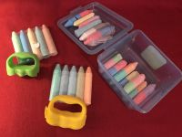 20+ Crayola Chalk Sticks & Two Hand Wands. Sterlite Case Included