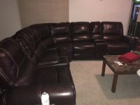 Leather 7-piece detachable sectional sofa