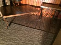 Wrought iron pallet coffee and end table