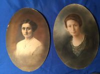 Antique hand painted photos