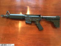 "For Sale: New Commando/CQB style AR Pistol with KAK Shockwave tube and brace 10.5"" barrel 5.56 1:7 twist"