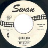 $800, VERY RARE BEATLES PROMOTIONAL 45rpm Sie Liebt Dich on white Swan Label never played will trade