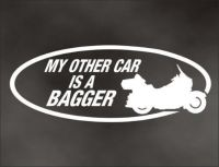 Purchase My OTHER CAR IS A Bagger DECAL for touring flh bike motorcycle bumper sticker motorcycle in Mentor, Ohio, United States, for US $6.98