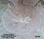NEW PRICE! CRYSTAL OR GLASS FOOTED HOBNAIL DISH