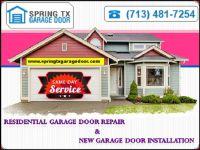 No. 1 Garage Door Repair company in Spring, TX   Start $25.95