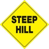 Purchase Trail Sign 12'' x 12'' Reflective .050 Plastic Steep Hill Sign Snowmobile ATV motorcycle in Monroe, Connecticut, US, for US $4.95