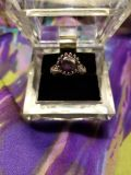 NEW Size 8 Round February Amethyst .925 Sterling Silver Ring