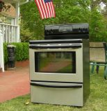 Range Stove Stainless steel Electric-Black Glass Top-Frigidaire
