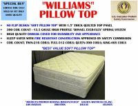 WILLIAMS EXTRA THICK QUEEN PILLOWTOP MATTRESS  BOX ALL NEW