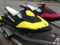 2014 Pair Sea Doo Spark Jet Ski+Trailer