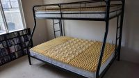 Metal Frame Bunk Bed w/ Mattresses & Mattress Foam Tops, Twin over Full - Ready for Pick Up!