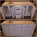 Single sink and cabinets vanity