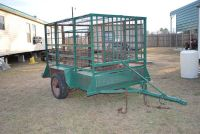 8 bumperpull small stock trailer-(for hogs,goats,calves,chickens etc)