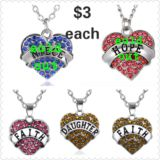 new HEART NECKLACES