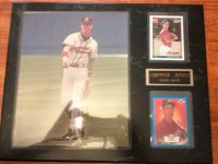 2 CHIPPER JONES ROOKIE CARDS with pic on plaque
