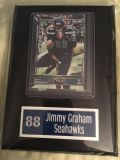 SEATTLE SEAHAWKS 5X7 PLAQUES *** 6 Players to choose from (see pics) *** NEW ***