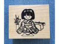 Mari & me Japanese Tea Ceremony Rubber Stamp Asian Oriental