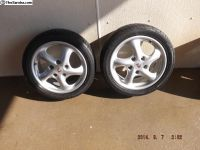 "17"" Porsche Alloy Rims and Sumitomo Tires"