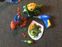 2 take apart dinosaurs with drill and screwdriver